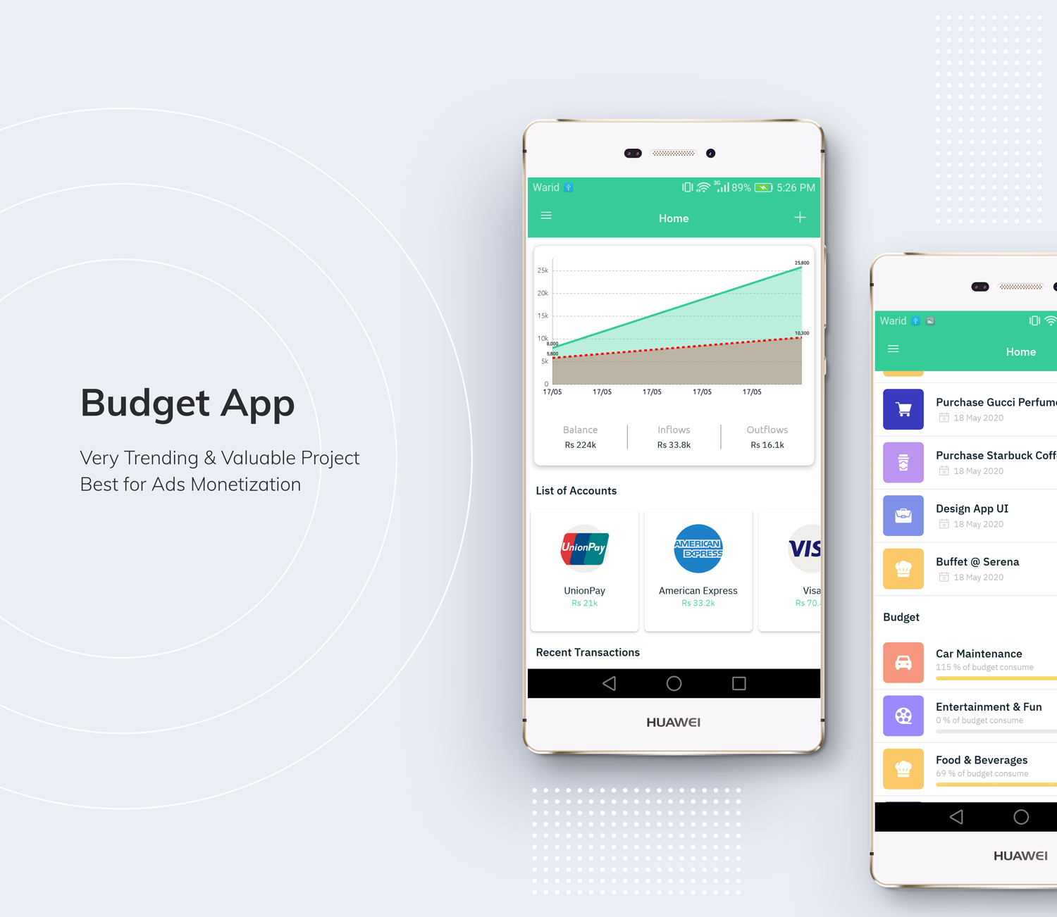 Budget App - Personal Expense Tracking App - 1