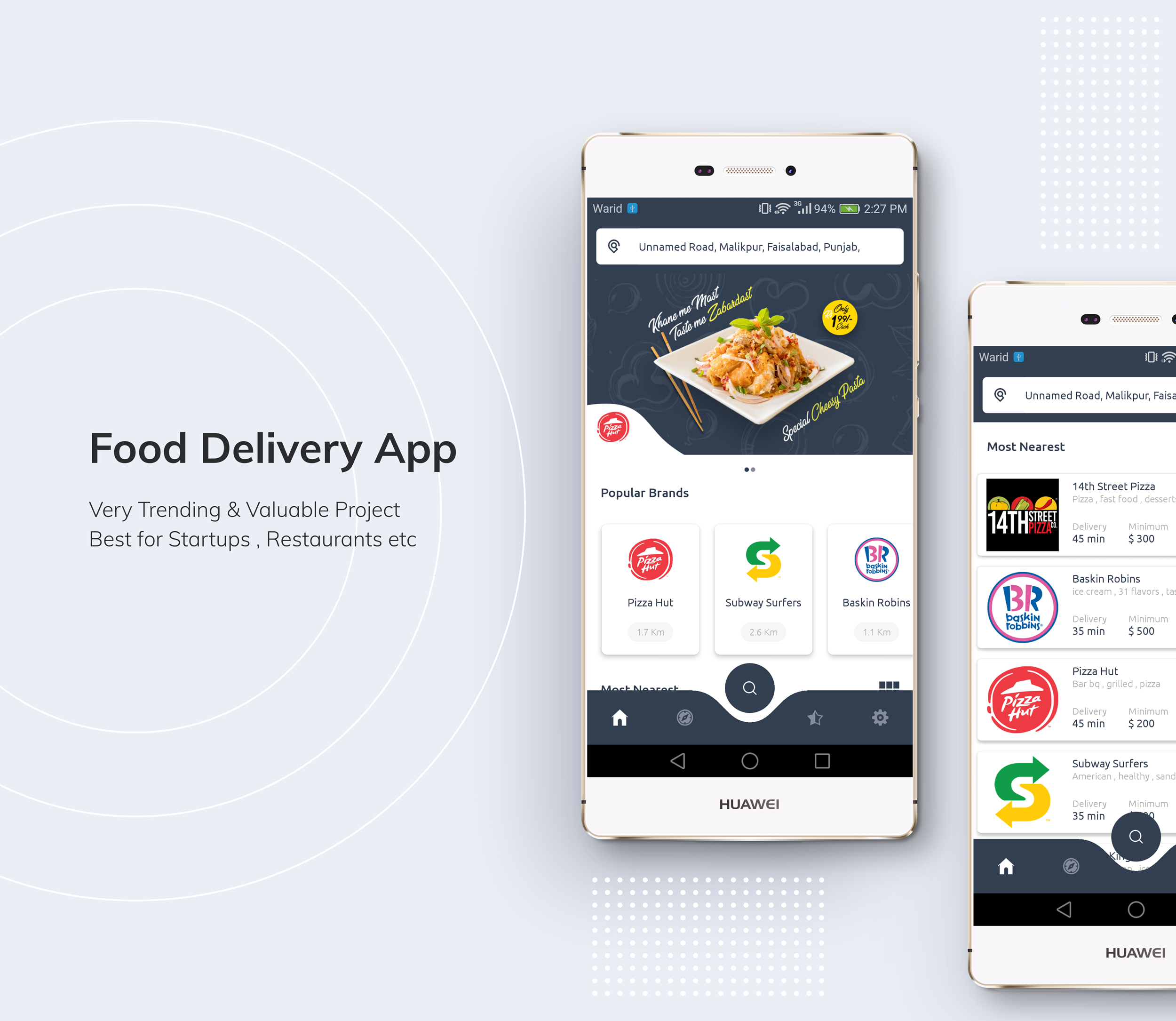 Restaurant Food Delivery App with Delivery Boy - 1