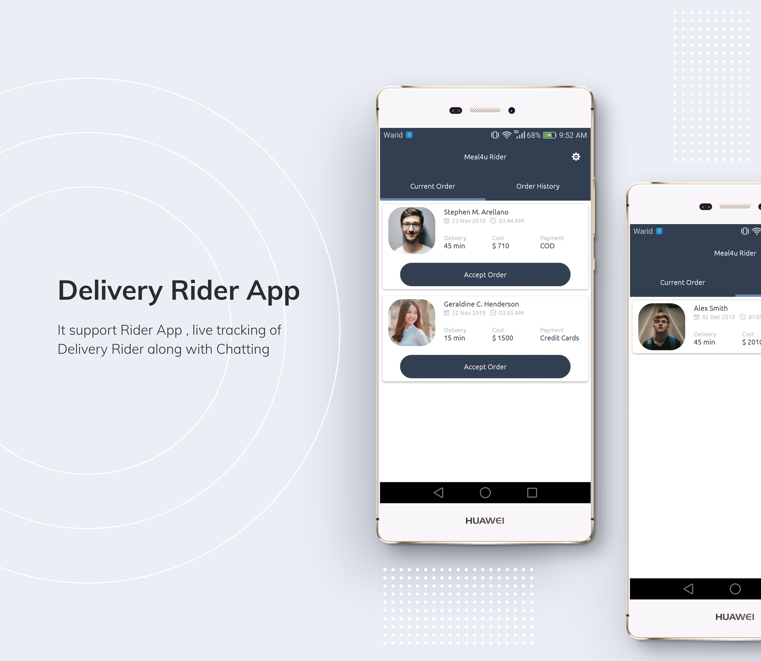 Restaurant Delivery Boy Rider App with Navigation - 1