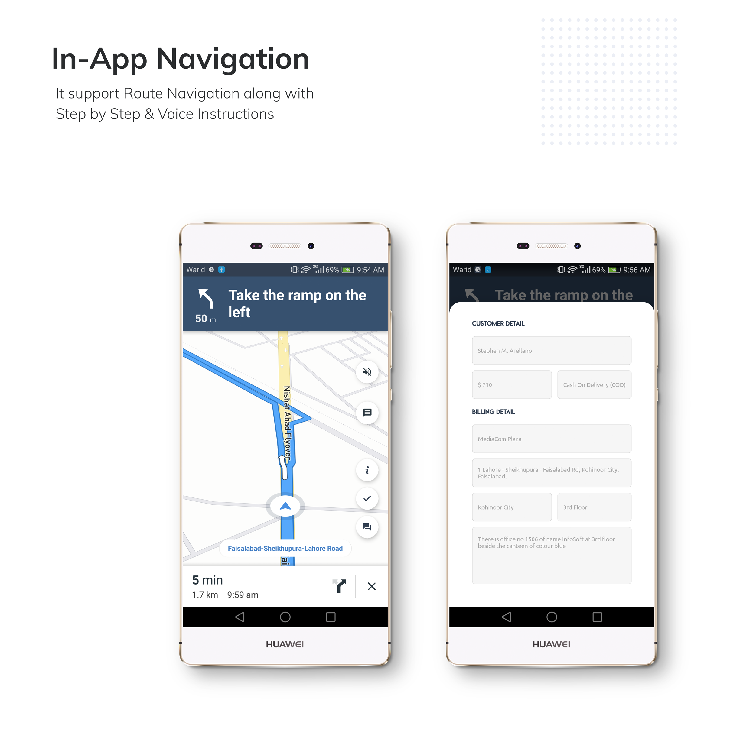Restaurant Delivery Boy Rider App with Navigation - 5